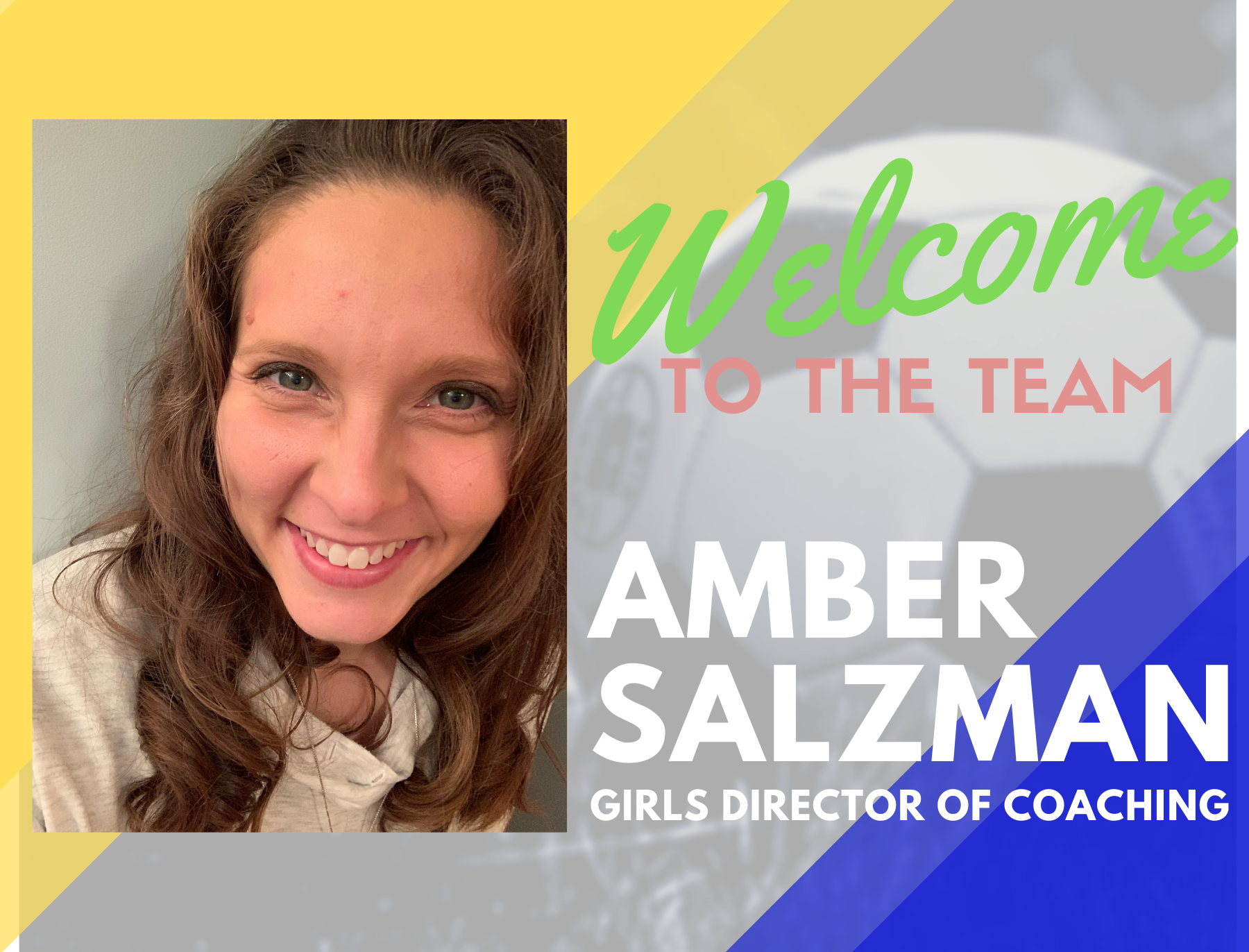 Welcome Amber Salzman as HFC United's New Girls Director of Coaching