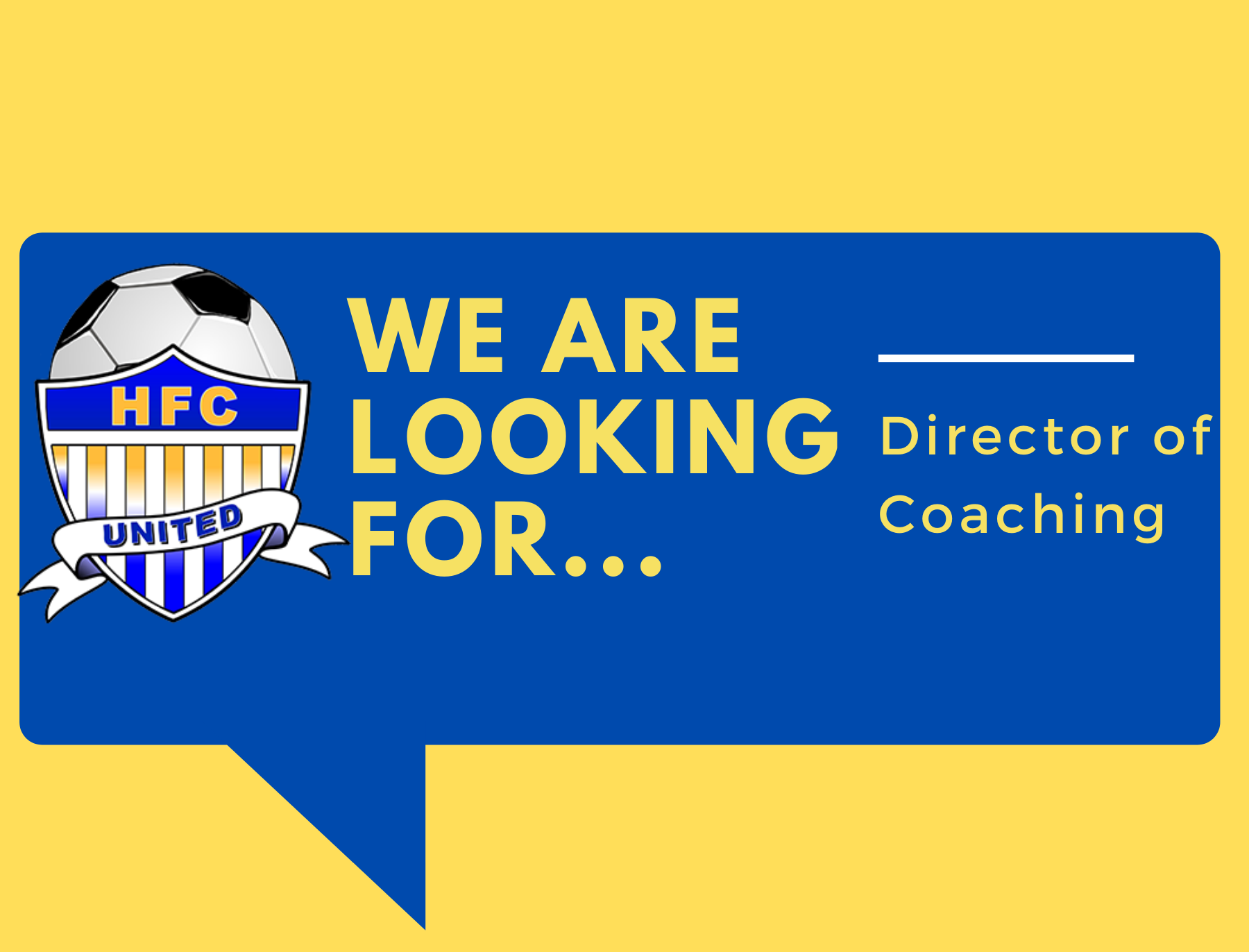Employment Opportunity- Director of Coaching
