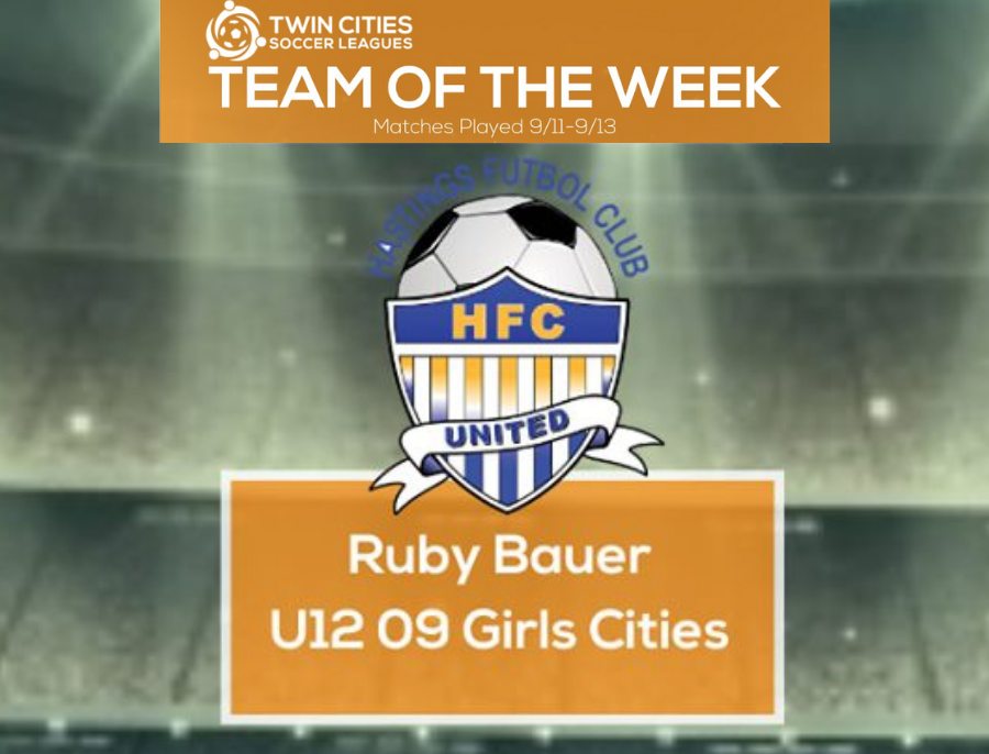 Ruby Bauer made the TCSL Team of the Week